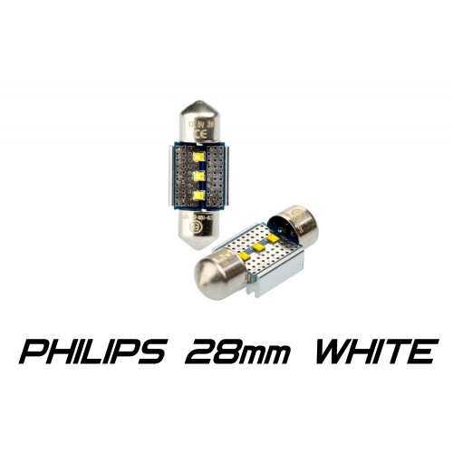 Optima Premium PHILIPS CAN Festoon 28 mm белая с обманкой