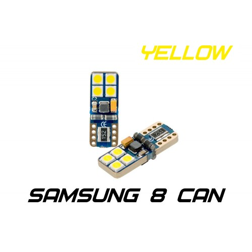 Optima Premium W5W (T10) Samsung Chip 8 CAN YELLOW