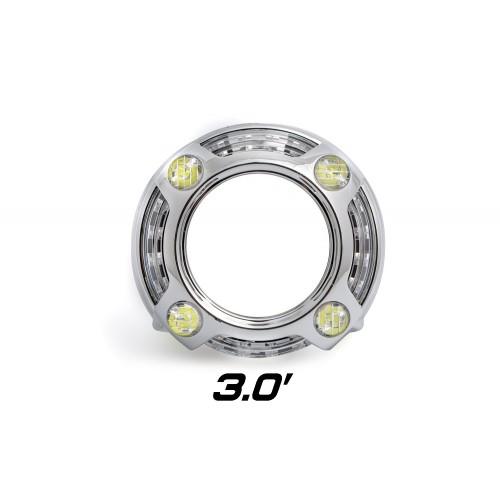 """Декоративная бленда Optima Panamera Style 3.0"""", бленда для линз 3.0 дюйма круглая с режимом притухания"""