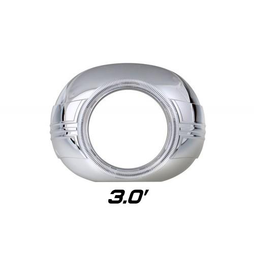 """Декоративная бленда Optima Z120 CCFL 3.0"""" для линзы 3.0 дюйма круглая под Ангельские глазки"""