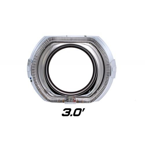 """Декоративная бленда Optima GD136-F3 3.0"""" F-style для линзы 3.0 дюйма со сверхъяркими ангельскими глазками CREE + режим притухания"""