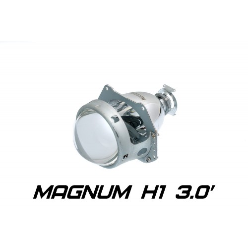 Биксеноновая линза Optima Magnum 3 дюйма Н1, модуль под лампу Н1 3 дюйма без бленды
