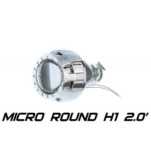 Биксеноновая линза Optimа Micro Round 2.0' H1, модуль под лампу H1 2.0 дюйма (бленда круглая R без АГ)